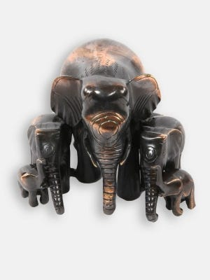 Brass Copper Tinted Family of Elephant