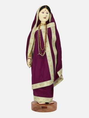 Traditional Wooden Doll - Big