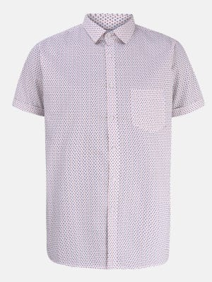 Light Pink Mixed Cotton Fitted Shirt