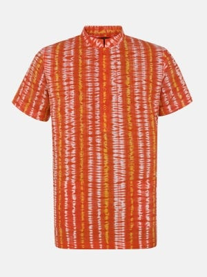Orange Tie-Dyed Cotton Fatua
