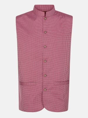Red Check Cotton Coaty