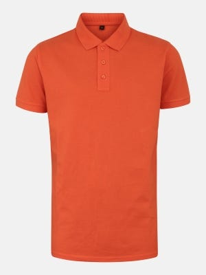 Orange Mixed Cotton Polo Shirt
