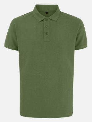 Olive Green Mixed Cotton Polo Shirt