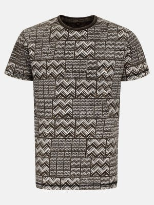 Brown Dyed Cotton T-Shirt