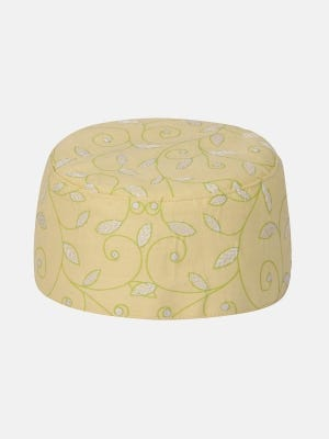 Yellow Embroidered and Printed Cotton Tupi