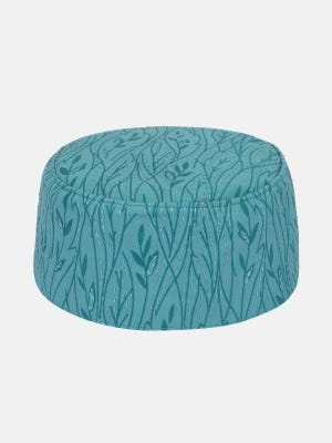 Teal Printed and Embroidered Cotton Tupi
