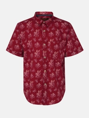 Red Printed Cotton Shirt