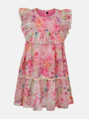 Pink Printed Cotton Frock