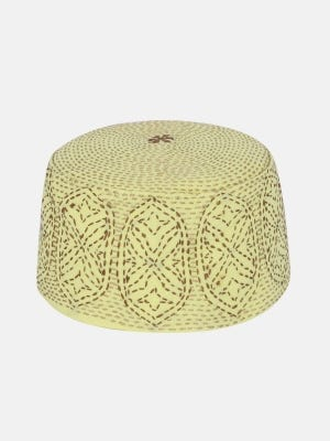 Yellow Embroidered Cotton Tupi