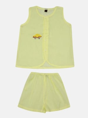 Pastel Yellow Embroidered Voile Nima