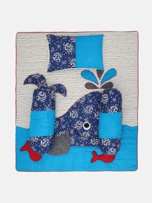 Ivory Printed and Embroidered Cotton Carrier Set