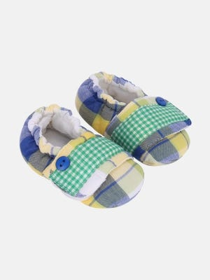 Multicolour Check Cotton Shoe