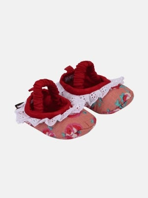 Red Printed Cotton Shoe