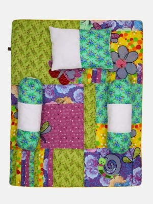 Multicolour Printed and Appliqued Cotton-Voile Carrier Set