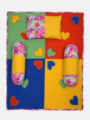 Multicolour Printed and Embroidered Cotton-Voile Carrier Set