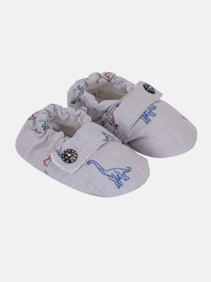 Light Grey Printed Cotton Shoes