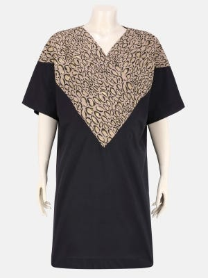 Black Printed Viscose Maternity Tops