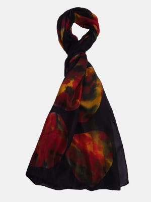 Multicolour Hand Painted Silk Scarf