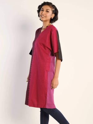 Deep Brown Tie-Dyed Cotton Tunic