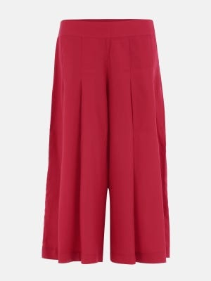 Red Mixed Cotton Pants