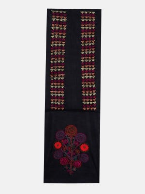 Black Embroidered Voile Yoke