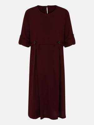 Maroon Mixed Cotton Frock