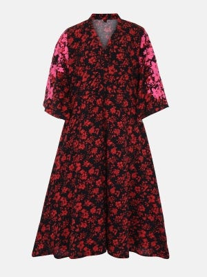 Black Printed Cotton Frock