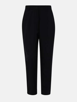 Black Mixed Cotton Pants