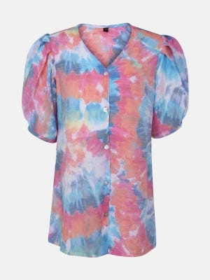 Multicolour Printed Mixed Cotton Top