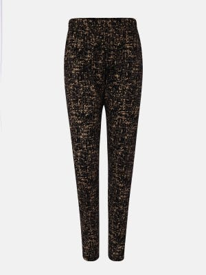 Black Printed Cotton Pants