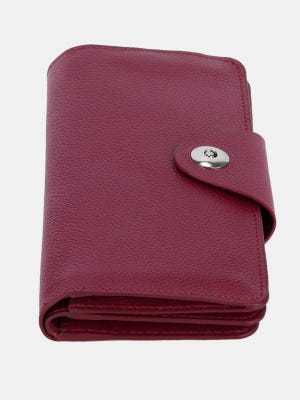 Maroon Leather Purse