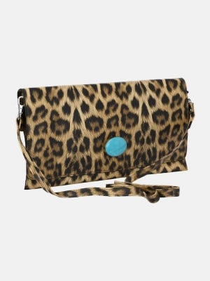 Printed Faux Leather Purse