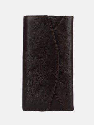 Dark Brown Vegetable Tanned Leather Wallet