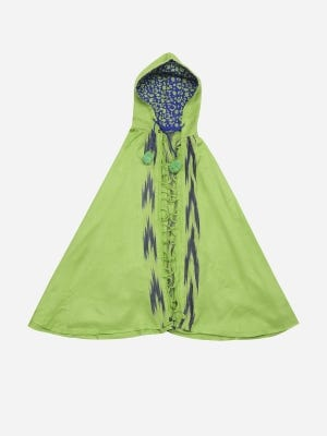 Green Handloom Viscose Cape Shawl