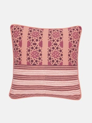Coral Printed Cotton Cushion Cover