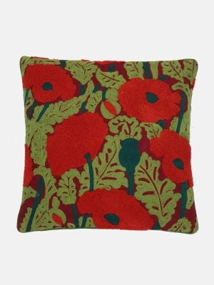 Maroon Suede Velvet Cushion Cover
