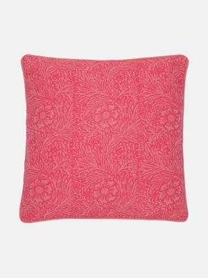 Onion Pink Printed Cotton Cushion Cover