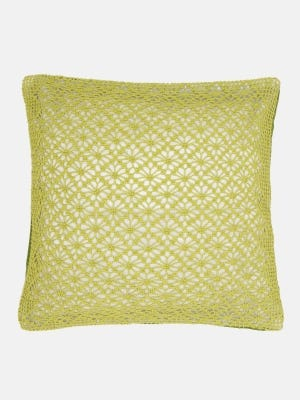 Olive Crochet Cotton Cushion Cover