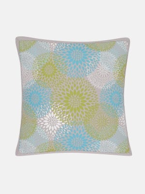 Grey Printed Cotton Cushion Cover