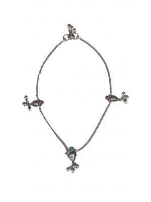 Oxidized Silver Anklet