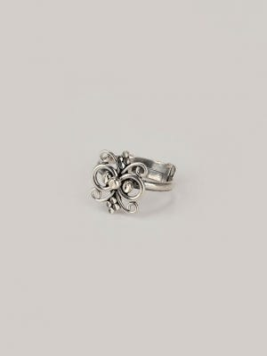 Oxidized Silver Toe Ring