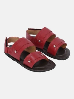 Red Leather Sandal
