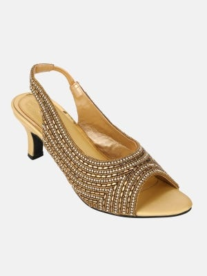 Golden Heel Sandals