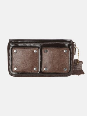 Deep Brown Vegetable Dyed Leather Wallet