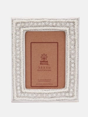 Embroidered Faux Leather Photo Frame