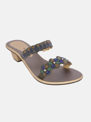 Multicolour Embroidered Sandal
