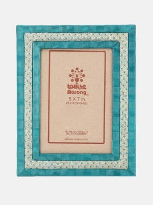 Teal Leather Photo Frame