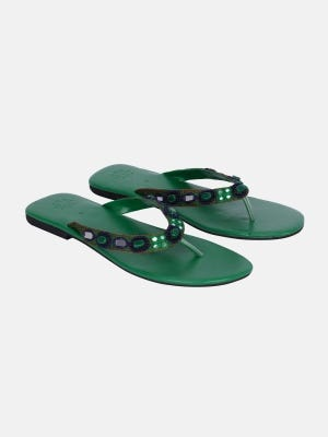 Green Leather Sandal