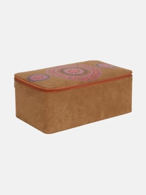 Brown Suede Leather Jewellery Box