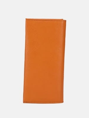 Camel Brown Eco-Friendly Vegetable Tanned Leather Wallet